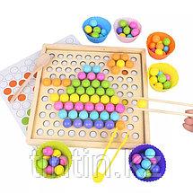 Деревянная шариковая мозаика + игра мемори, фото 3