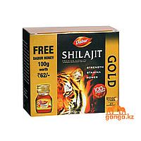 Мумие с Золотом и Шафраном Шиладжит, 20кап и мед 100мл (Shilajit Gold&Kesar DABUR)
