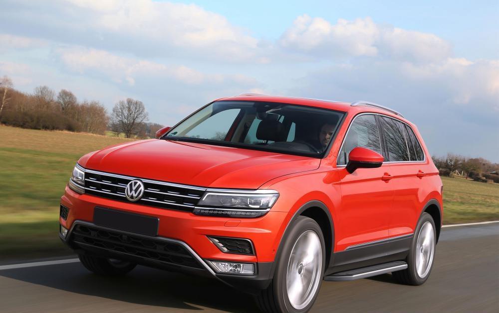 """Пороги """"Premium"""" Volkswagen Tiguan (2017-2021)"""
