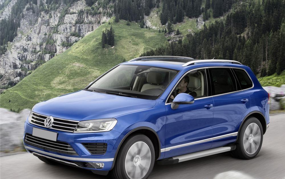 """Пороги """"Black""""  Volkswagen  Tiguan (2007-2017)"""