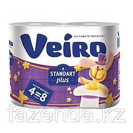 Бумага туалетная Viero Standart Plus 4 рулона