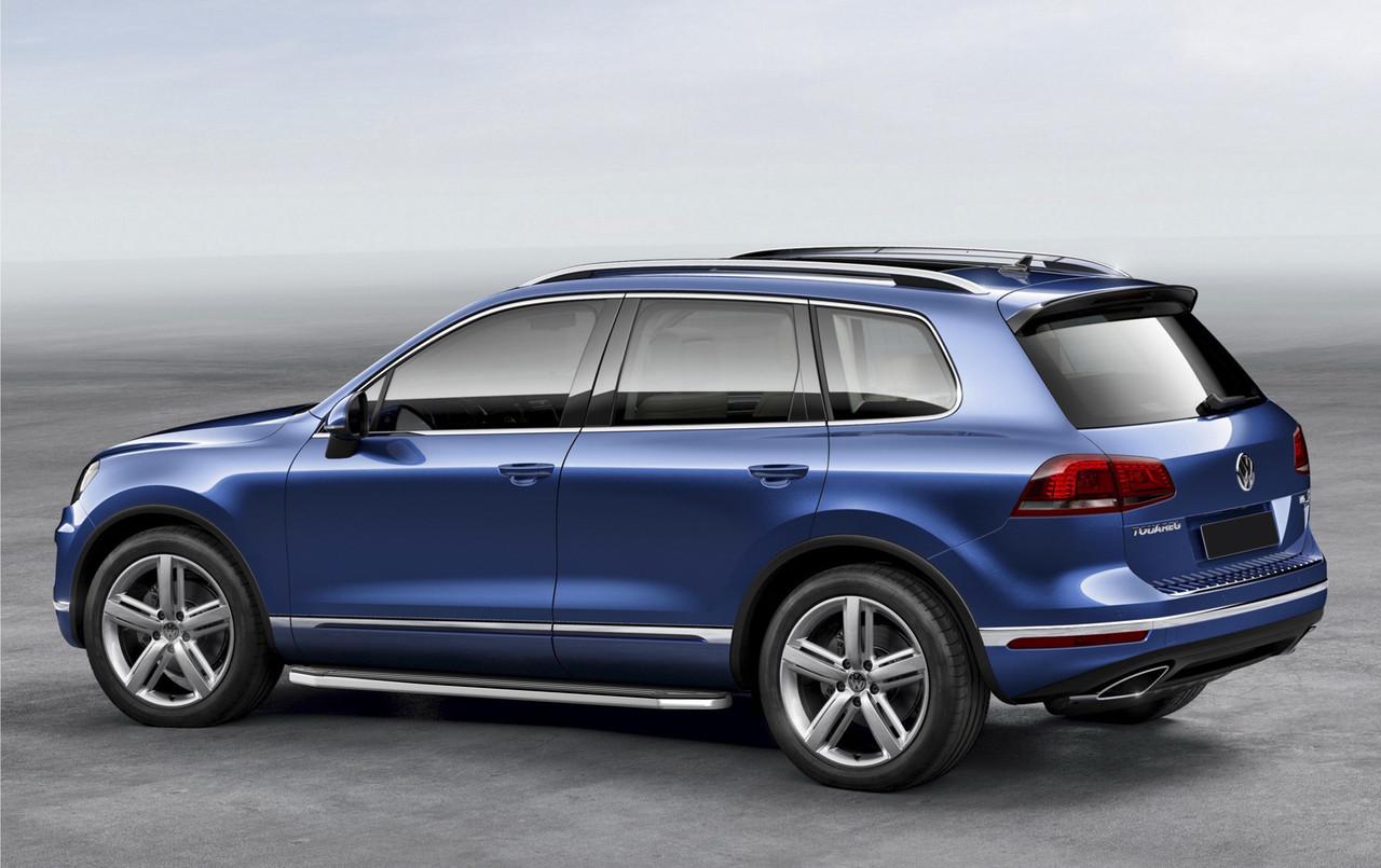 """Пороги """"Premium"""" Volkswagen Touareg R-Line (2015-2021)"""