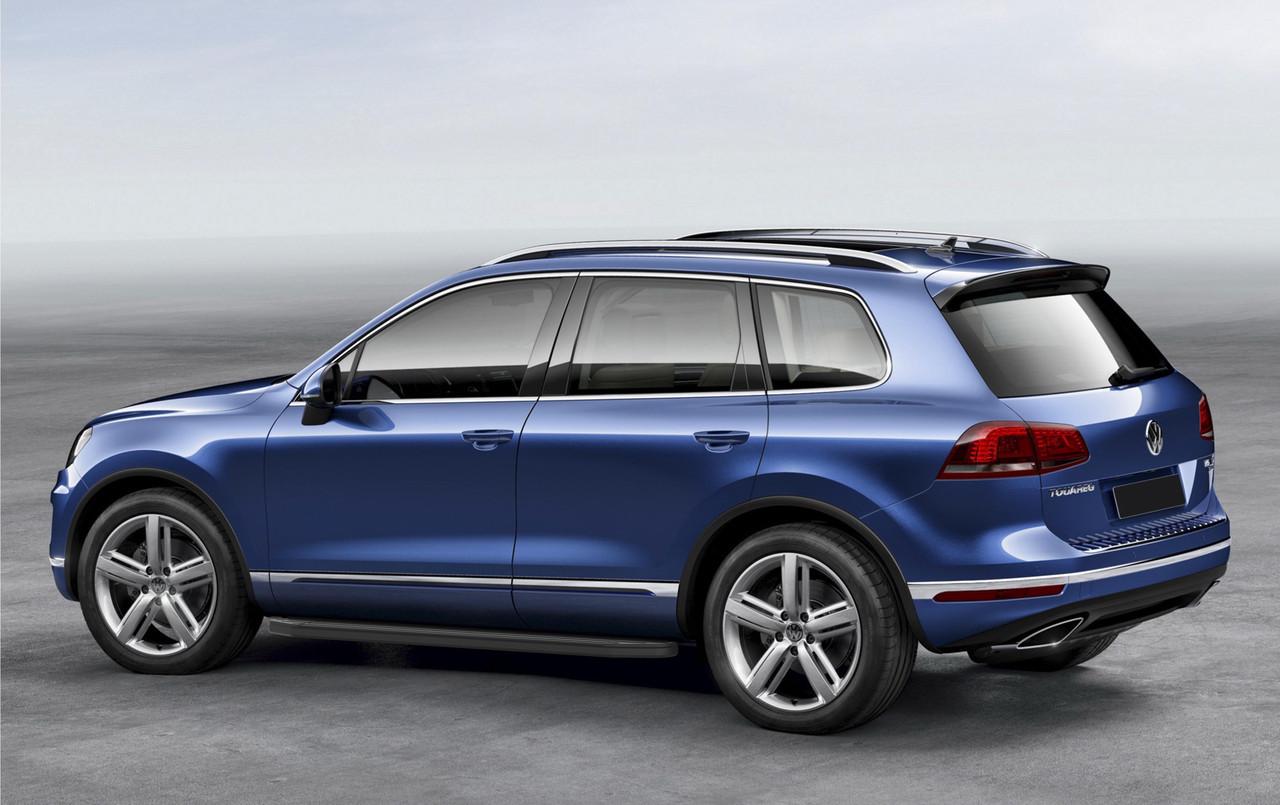 """Пороги """"Premium-Black"""" Volkswagen  Touareg, R-Line (2015-)"""