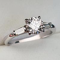 Сертификат GIA 1,00Сt SI2/L EX-Cut Золотое кольцо с бриллиантами, фото 1