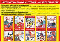 Плакат Инструктаж по охране труда на рабочем месте А1, Фотобумага