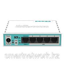 Маршрутизатор Mikrotik RB750r2 (hEX lite), 850 MHz, DRAM 64 MB, 5x10/100 FE