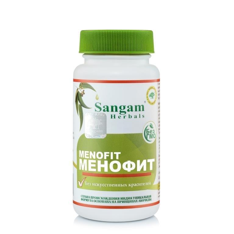 Таблетки Менофит, 750 мг, 60 таблеток, Sangam Herbals,  является прекрасным заместителем гормональной терапии