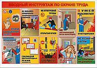 Плакат Вводный инструктаж по охране труда А1, Фотобумага