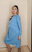 Платье голубое для беременных и кормящих мам ( 42-52 рр ) 50