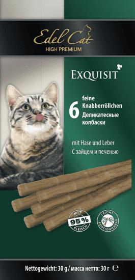 Edel Cat, колбаски с зайцем и печенью, 6х5гр.