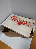 Коробка 37*24*16 см, дно + крышка в ассортименте