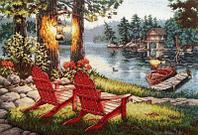 """Набор для вышивания крестом """"Отдых на озере"""""""