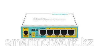 MikroTik hEX PoE lite роутер без Wi-Fi 5-портовый 100-Мбитный маршрутизатор с поддержкой PoE на 4-х