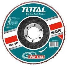 Круг лепестковый 150х22.2мм Р80 TOTAL арт.TAC631502