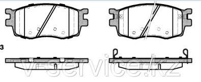 Тормозные колодки YOTO G-467(MD 8393M)(REMSA 1208.02)