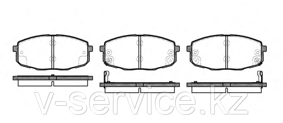 Тормозные колодки YOTO G-469(MD 8416M)(REMSA 1038.02)