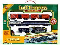 Детская железная дорога Int'l Express 1604-1 A со светом и звуком трек 403 см, фото 1