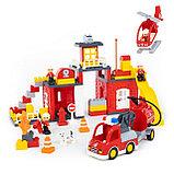 """Конструктор аналог Лего дупло lego """"Макси"""" - """"Пожарная станция"""" 95 деталей, фото 2"""