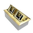 Shelbi Напольный/настольный лючок на 2х3 модуля, металл, золото, фото 4