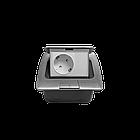Shelbi Напольный/настольный лючок на 3 модуля, металл, серебро, фото 3