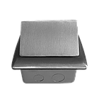 Shelbi Напольный/настольный лючок на 4 модуля, металл, серебро, фото 7