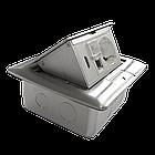 Shelbi Напольный/настольный лючок на 4 модуля, металл, серебро, фото 8