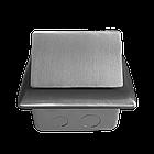 Shelbi Напольный/настольный лючок на 4 модуля, металл, серебро, фото 6