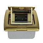 Shelbi Напольный/настольный лючок на 3 модуля, металл, золото, фото 8