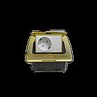Shelbi Напольный/настольный лючок на 3 модуля, металл, золото, фото 10