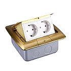 Shelbi Напольный/настольный лючок на 4 модуля, металл, золото, фото 2