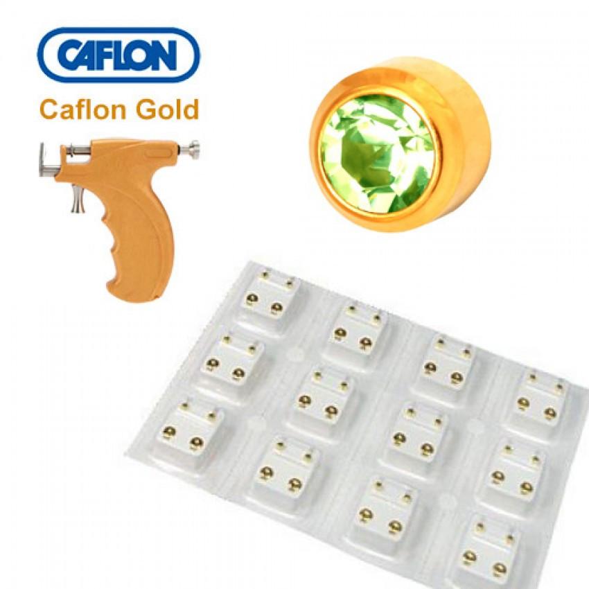 Медицинские серьги Caflon хризолит - фото 2