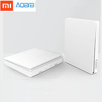 Xiaomi Aqara Smart Light Switch dual, беспроводной настенный выключатель света, двойной, ZigBee, фото 1