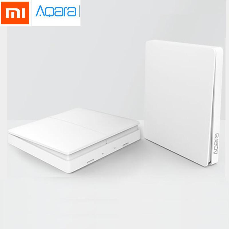 Xiaomi Aqara Smart Light Switch dual, беспроводной настенный выключатель света, двойной, ZigBee