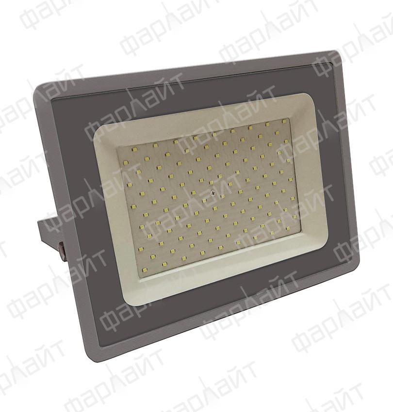 Прожектор светодиодный СДО 100Вт 6500К IP65 серый Фарлайт