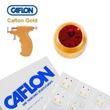 Медицинские серьги Caflon гранат - фото 2