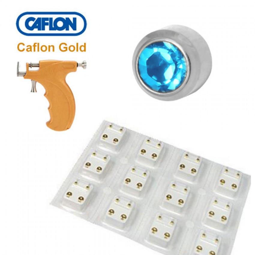 Медицинские серьги Caflon аквамарин - фото 2