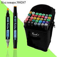 Набор маркеров художественных двухсторонних для скетчинга на спиртовой основе Touch с чехлом 36 шт