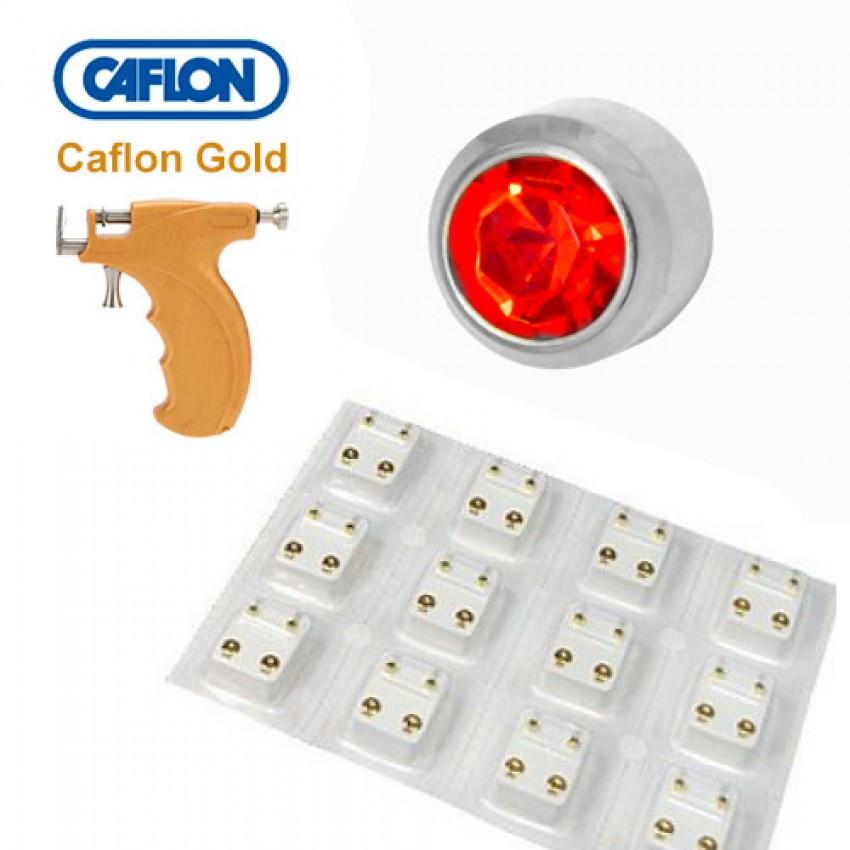 Медицинские серебряные серьги Caflon гранат - фото 2