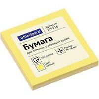 OfficeSpace Клейкие листки OfficeSpace 76х76 мм, желтые, 100 листов