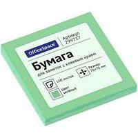 OfficeSpace Клейкие листки OfficeSpace 76х76 мм, зеленый, 100 листов