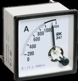 Амперметр Э47 1000/5А кл. точн. 1,5 96х96мм ИЭК
