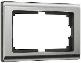 Рамка для двойной розетки /W0081602 (глянцевый никель)