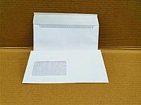 Конверты почтовые Е65, 110х220, окно, отрывная лента