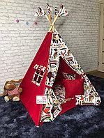 Детская палатка вигвам 4х гранный Красная Тайга