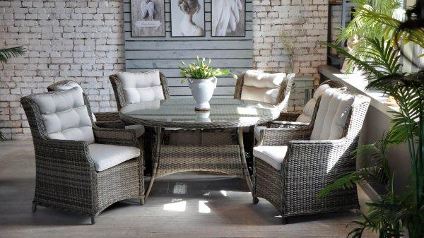 "Комлект мебели ""Yolandi"", 6-Кресол, 1-стол круглый 140см - фото 2"
