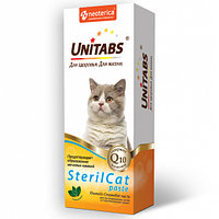 Паста UNITABS SterilCat Q10 для кастрированных котов и стерилизованных кошек, 120мл