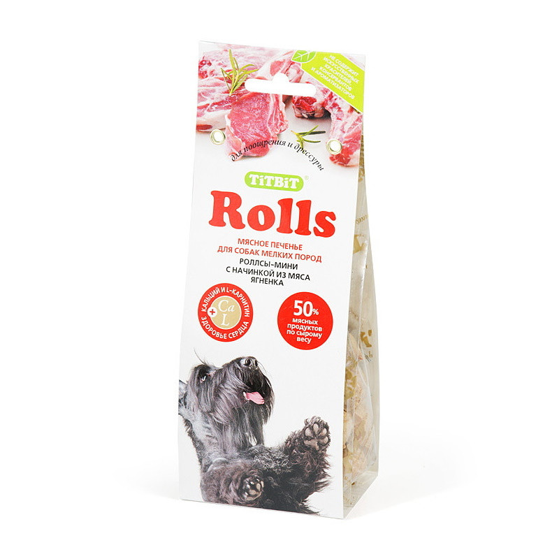 Лакомства для собак Печенье Rolls мини Ягненок