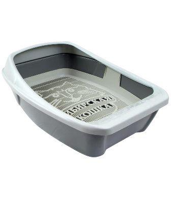 Туалет Сибирская Кошка Евро глубокий с сеткой бортиком