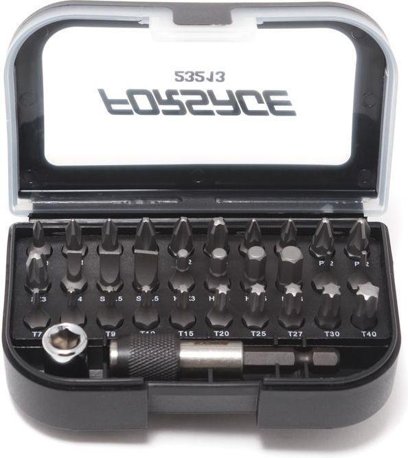 "1/4"" набор бит с битодержателем и адаптером 1/4""Hex(F)-1/4""Sq(F) 32пр.- 25ммL Forsage F-23213"