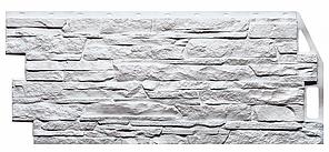 Фасадные панели Белый 1090x460 мм Скала FINEBER